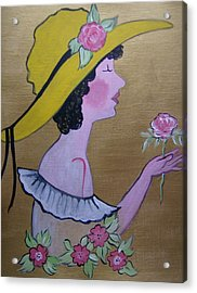 Flower Girl Acrylic Print by Leslie Manley