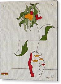 Flower Acrylic Print by Hildegarde Handsaeme