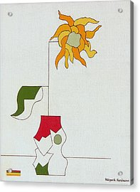 Flower II Acrylic Print by Hildegarde Handsaeme