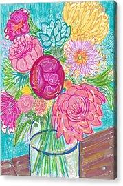 Flower In Vase Acrylic Print