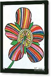 Flower Acrylic Print by Jeffrey Peterson