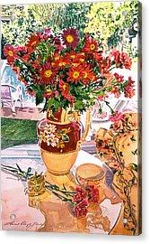 Flower Jug In The Window Acrylic Print