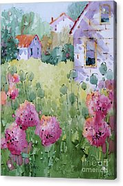 Flower Lady's Poppies Acrylic Print