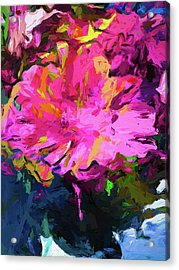 Flower Lolly Pink Yellow Acrylic Print