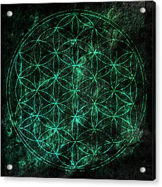 Flower Of Life 1 Acrylic Print by Edouard Coleman