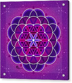 Flower Of Life Acrylic Print by Soul Structures