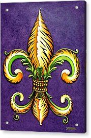 Flower Of New Orleans Lsu Acrylic Print by Judy Merrell