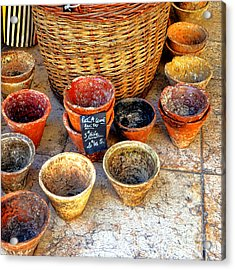 Acrylic Print featuring the photograph Flower Pots In Provence by Olivier Le Queinec