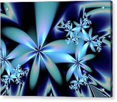 Flower Power Blue Acrylic Print