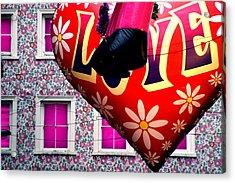 Flower Power Man Acrylic Print by Jez C Self