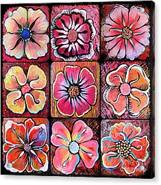 Flower Power Montage Acrylic Print