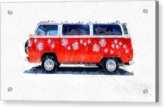 Flower Power Van Acrylic Print