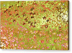Acrylic Print featuring the digital art Flower Praise by Linde Townsend