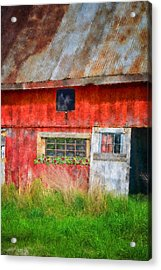 Flower Shed Acrylic Print by Mary Timman