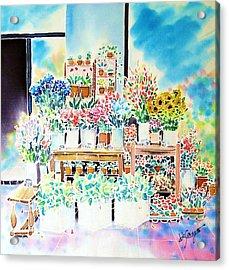 Flower Shop In Paris Acrylic Print