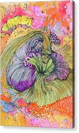 Flower - Ss17dw002 Acrylic Print by Satomi Sugimoto