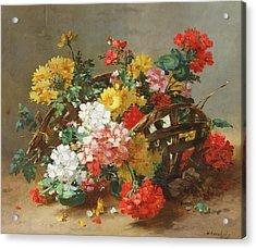 Flower Study Acrylic Print by Eugene Henri Cauchois