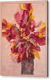 Acrylic Print featuring the painting Flower Study by Lynn Babineau