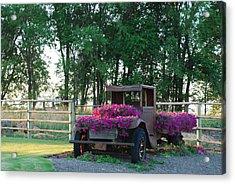 Flower Truck Acrylic Print by Linda Larson