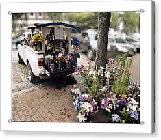 Flower Truck On Nantucket Acrylic Print by Tammy Wetzel