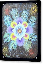 Floral Vortex Acrylic Print