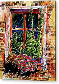 Flower Window Acrylic Print by Terry Banderas