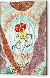 Acrylic Print featuring the pastel Flower by Yury Bashkin