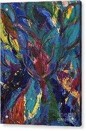 Flowerburst Acrylic Print by Sabra Chili