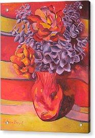 Flowering Orange Acrylic Print by Lisa Boyd
