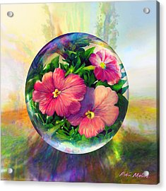 Acrylic Print featuring the painting Flowering Panopticon by Robin Moline