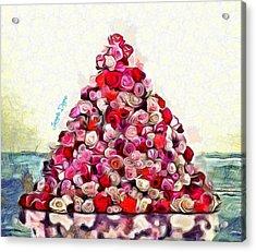 Flowering Pyramid Acrylic Print by Leonardo Digenio