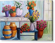 Flowerpots Acrylic Print