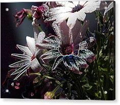 Acrylic Print featuring the digital art Flowers by Stuart Turnbull