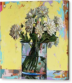 Acrylic Print featuring the painting Flowers #19 by David Palmer