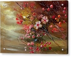 Flowers 2 Acrylic Print by Anil Nene