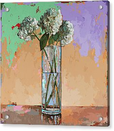 Acrylic Print featuring the painting Flowers #20 by David Palmer