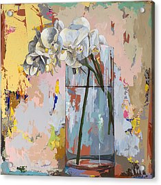 Acrylic Print featuring the painting Flowers #3 by David Palmer