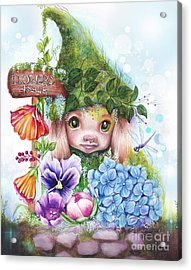 Acrylic Print featuring the mixed media Flowers 4 Sale - Garden Whimzies Collection by Sheena Pike