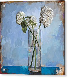 Acrylic Print featuring the painting Flowers #5 by David Palmer