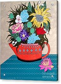 Flowers Acrylic Print by Amy Sorrell