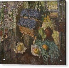 Flowers And Fruits Acrylic Print by Igor Grabar