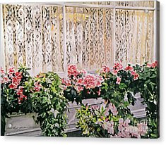 Flowers And Lace Acrylic Print by David Lloyd Glover