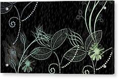Flowers And Rain Acrylic Print