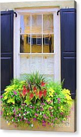 Flowers And Reflections Acrylic Print