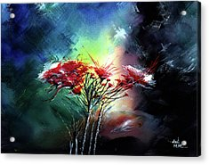 Flowers Acrylic Print by Anil Nene