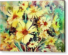 Flowers Are The Sweetest Things Acrylic Print