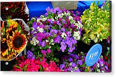 Flowers At Union Station Market Acrylic Print