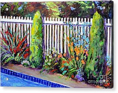 Flowers By The Pool Acrylic Print