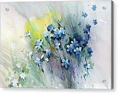 Flowers Fantasy Acrylic Print by Natalia Eremeyeva Duarte