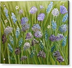 Flowers Field Acrylic Print